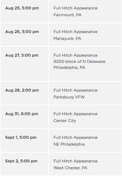Budweiser Clydesdales Tour Schedule