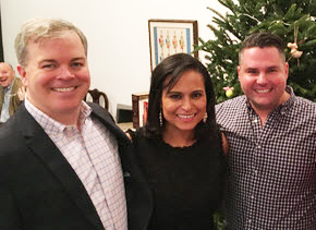 Kristen welker with her fiancee John Hughes and her friend
