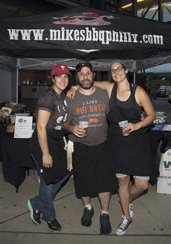 Diana Zaccagnini, Michael Strauss, and Theresa Carvalho of Mikes BBQ Philly